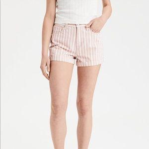 American eagle striped shorts preppy